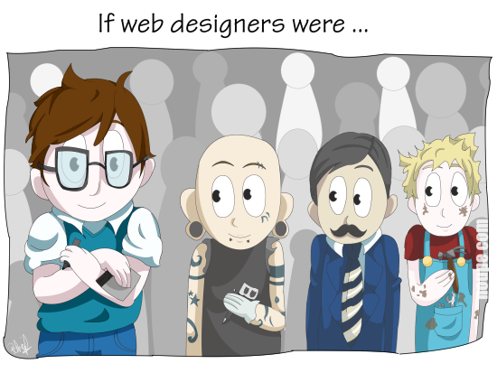 Cartoon: If Web Designers Were … [#001]