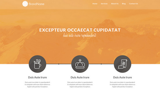 clean html5 template
