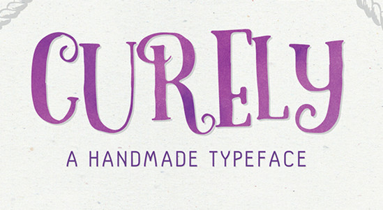 curely font