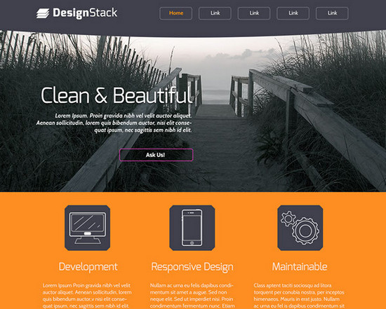 100 best free psd website templates of 2014 noupe for House design websites free