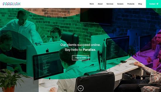 ghost-buttons-parallax-website