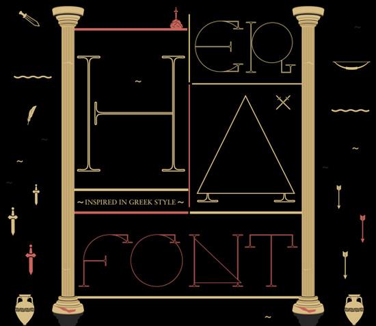 greek typeface