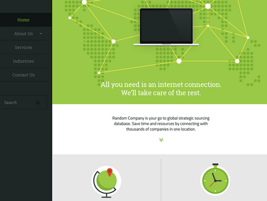 greenish web interface