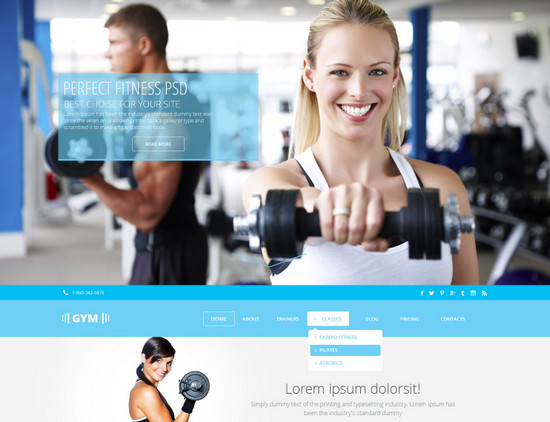 gym template