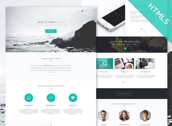 100 Best Free HTML/CSS Themes of 2014 | NOUPE