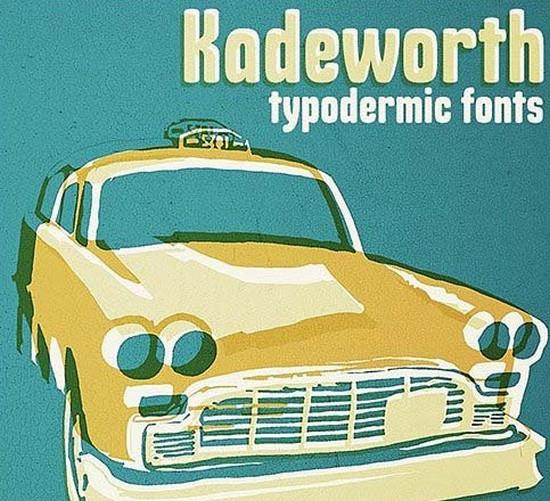 kadeworth typeface