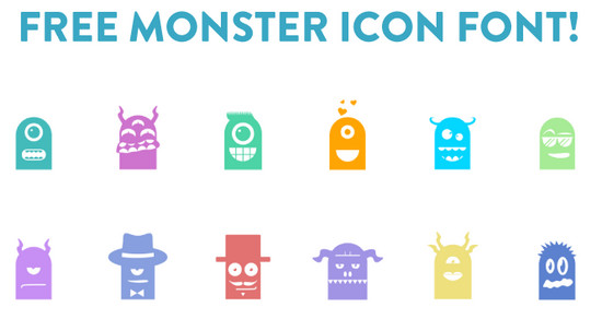 monster icon font