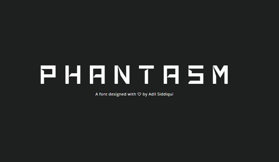 phantasm font