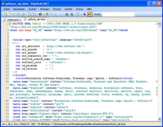 web page code template