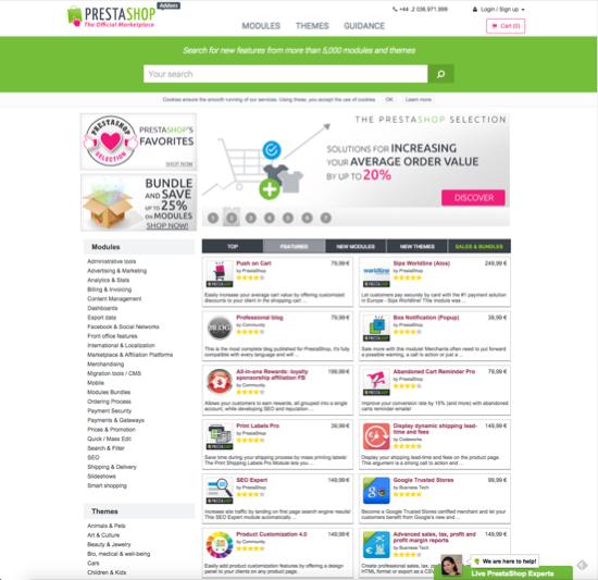 PrestaShops's App Store
