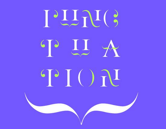 punctuation font