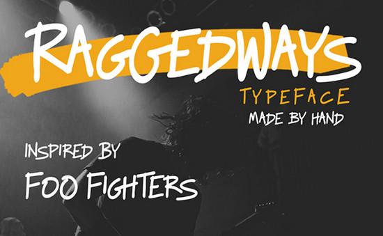 raggedways font