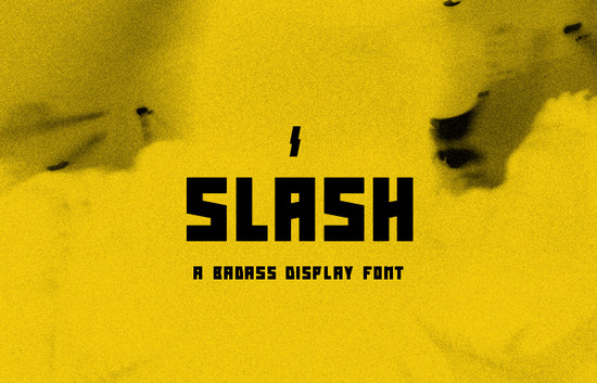 slash typeface