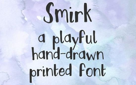 smirk typeface