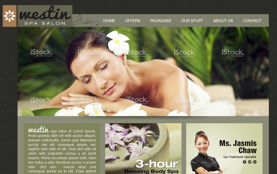 spa salon template