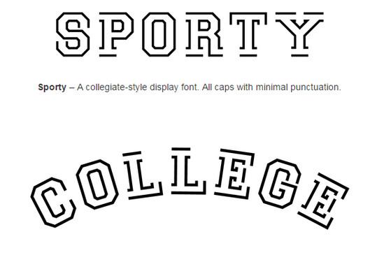 sporty font