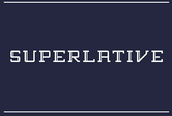 superlative font