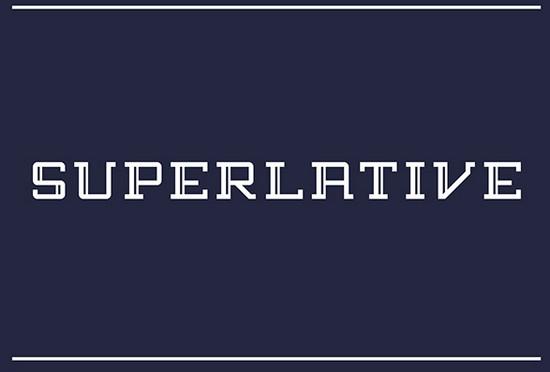 superlative font