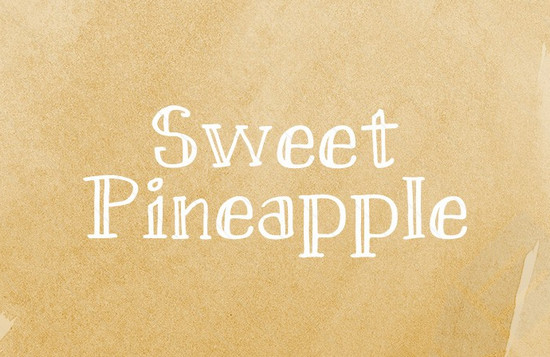 sweat pineapple font