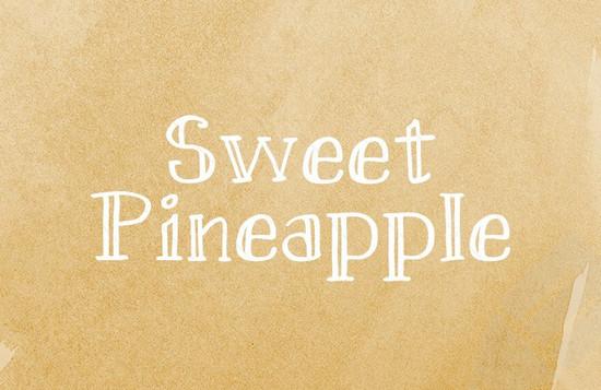 sweat pineapple font