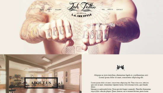tattoo salon layout