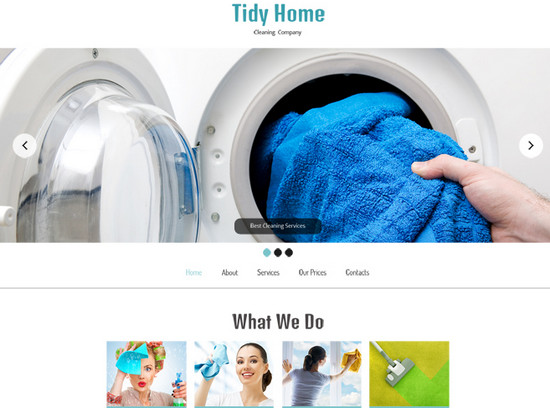 theme for cleaning company