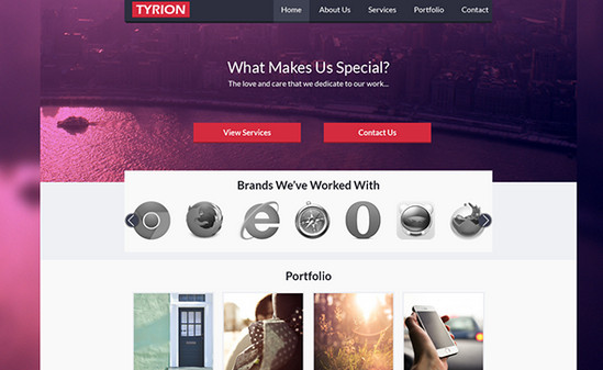 tyrion website layout