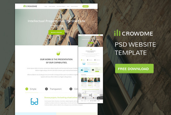 Blast from the Past #3: 100+ Best Free PSD Website Templates of 2014