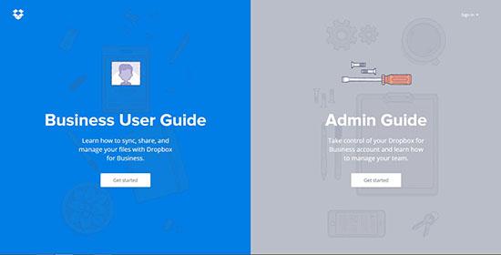12-clean-colorful-websites-dropbox