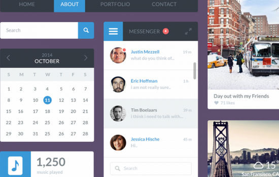 A Flat UI Kit For Designers