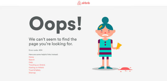 Airbnb - Error 404