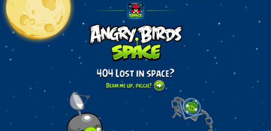 Angry Birds Space - Error 404