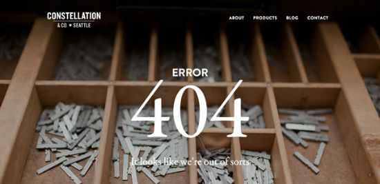 Constellation & Co. - Error 404