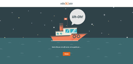 Edukate Web Client - Error 404