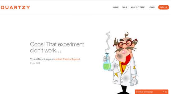 Quartzy - Error 404