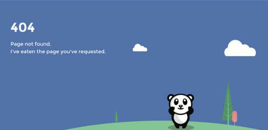 Use Panda - Error 404