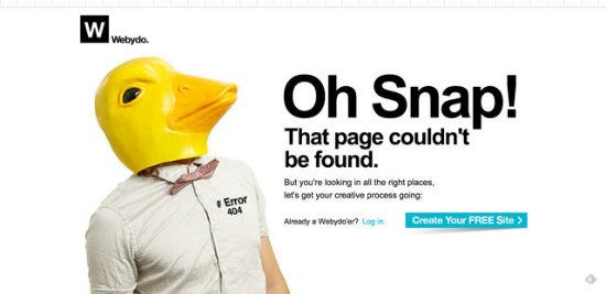 Webydo - Error 404