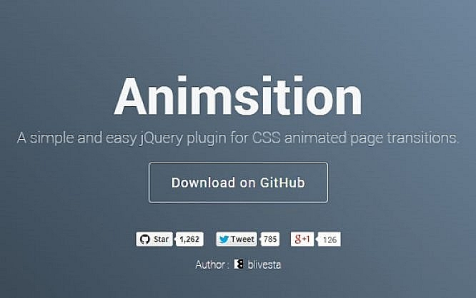 Animsition: Animated Page Transitions with jQuery   NOUPE