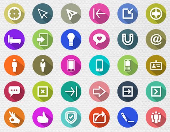 100 free flat icons