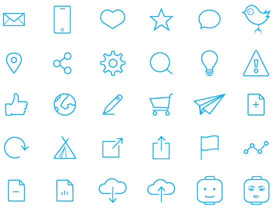 blue ine icons