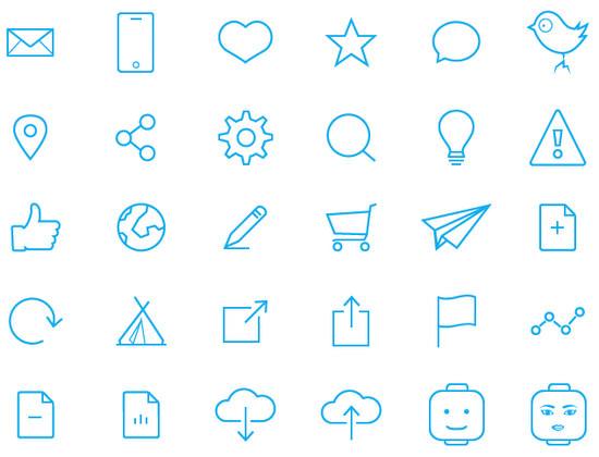 blue ine icons