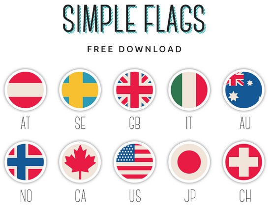 flags icons