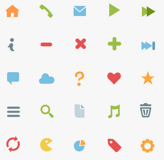 flat pictograms