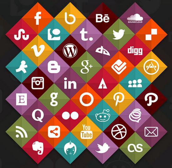 flat social media
