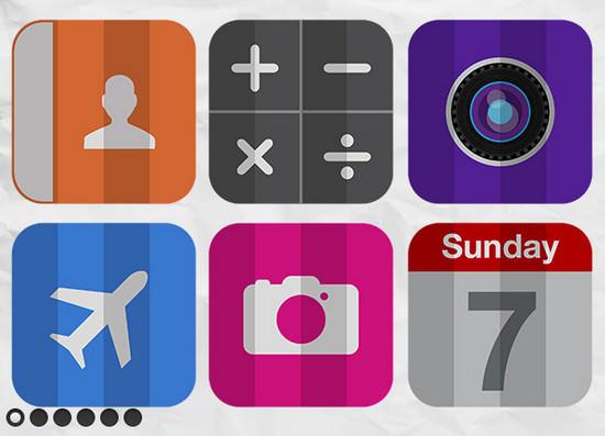folded icons