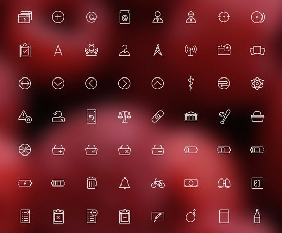 free outlined icon set