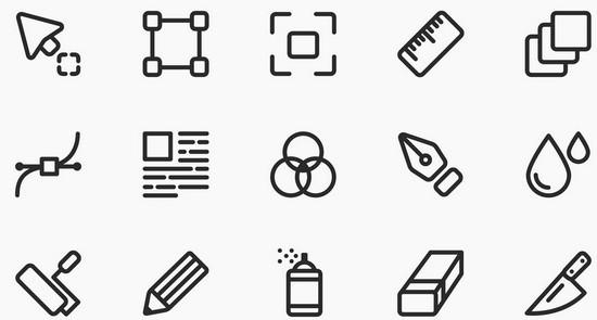 line style icon set