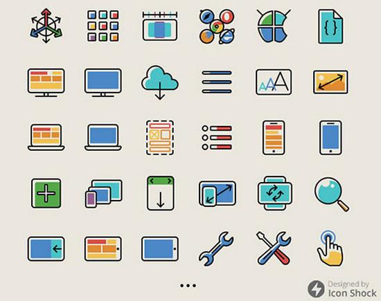 responsive icon set