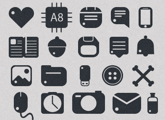 rounded icons set
