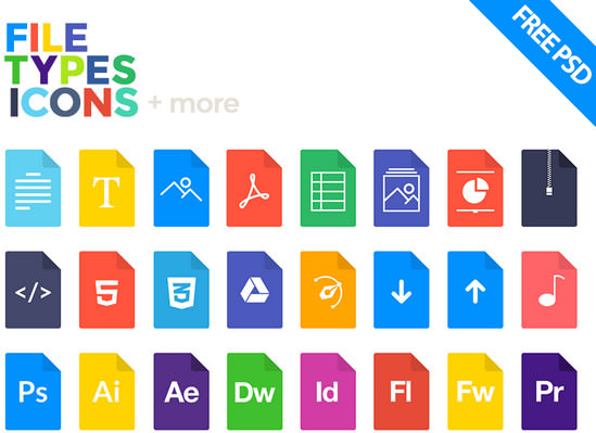 types icons